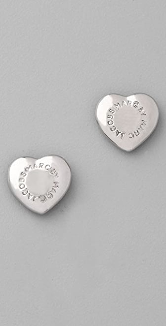 Marc by Marc Jacobs House of Cards Logo Heart Stud Earrings