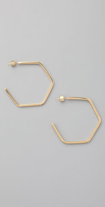 Marc by Marc Jacobs Studly Large Hexi Hoops