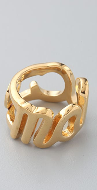Marc by Marc Jacobs Classic Miss Marc Script Ring