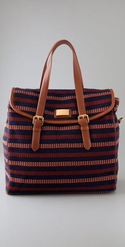 Marc by Marc Jacobs Saddlery Striped Lou Lou Satchel