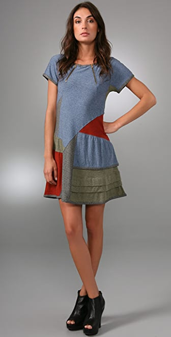 Marc by Marc Jacobs Lily Jersey Patchwork Dress