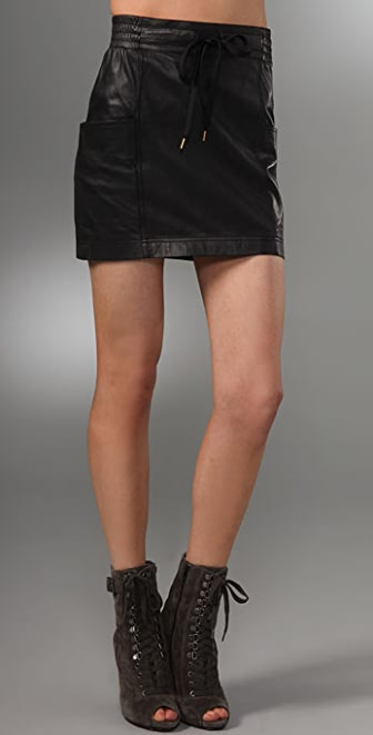 Marc by Marc Jacobs Glove Leather Skirt