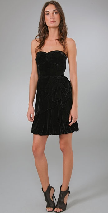 Marc by Marc Jacobs Solid Velvet Dress