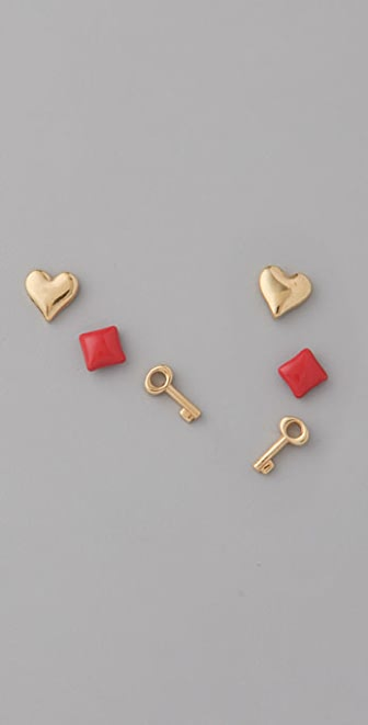 Marc by Marc Jacobs Key to My Heart Stud Set