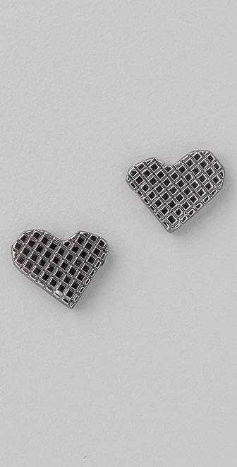Marc by Marc Jacobs Crosshatch Lovebirds Stud Earrings