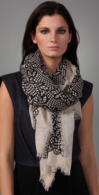 Marc by Marc Jacobs Lacey Print Scarf