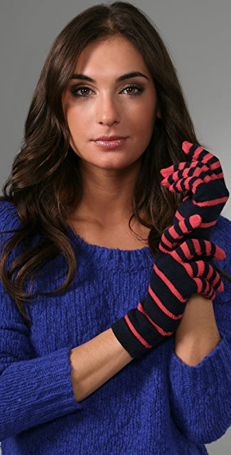 Marc by Marc Jacobs Sadie Stripe Gloves