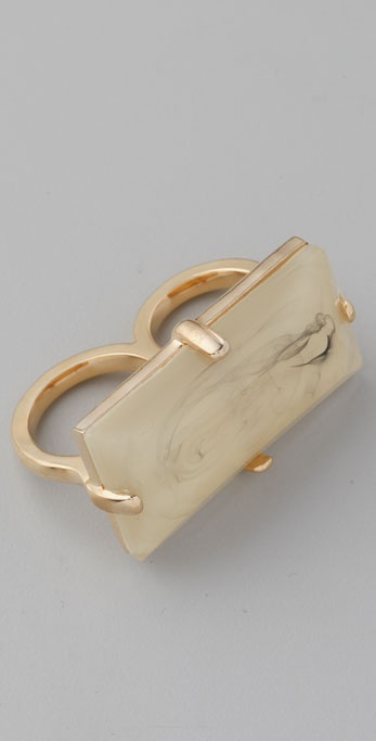 Marc by Marc Jacobs Faceted Double Finger Ring