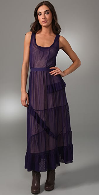 Marc by Marc Jacobs Trilby Tulle Long Dress