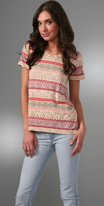 Marc by Marc Jacobs Animal Fair Isle Tee