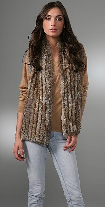 Marc by Marc Jacobs Knit Fur Vest