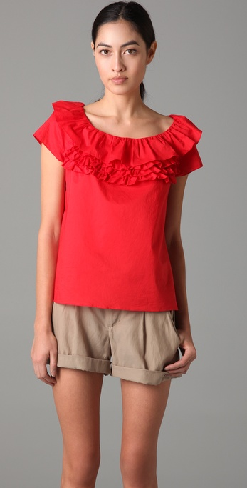 Marc by Marc Jacobs Highlight Ruffle Top