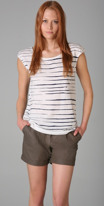 Marc by Marc Jacobs Broken Stripe Morgan Tee