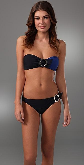 Marc by Marc Jacobs Broken Solids Bandeau Bikini Top