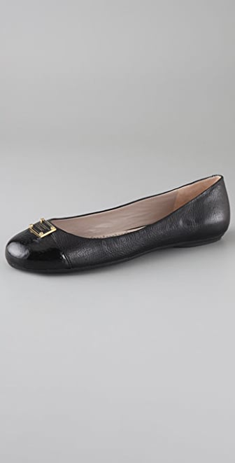 Marc by Marc Jacobs Logo Plaque Ballet Flats