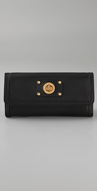 Marc by Marc Jacobs Totally Turnlock Long Trifold Wallet