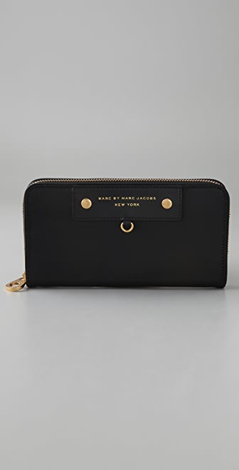 Marc by Marc Jacobs Preppy Nylon Large Zip Around Wallet