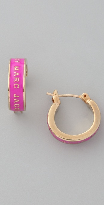 Marc by Marc Jacobs Classic Marc Enamel Huggie Hoops