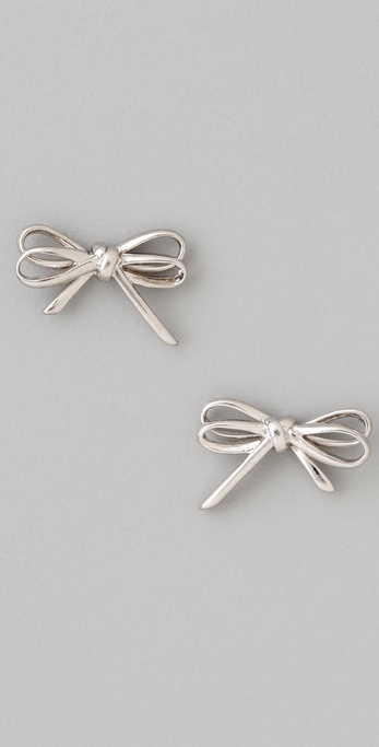 Marc by Marc Jacobs Bianca Metal Bow Stud Earrings