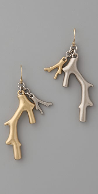 Marc by Marc Jacobs Two Tone Coral Seas Earrings