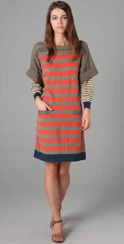 Marc by Marc Jacobs Beatrix Stripe Sweater Dress