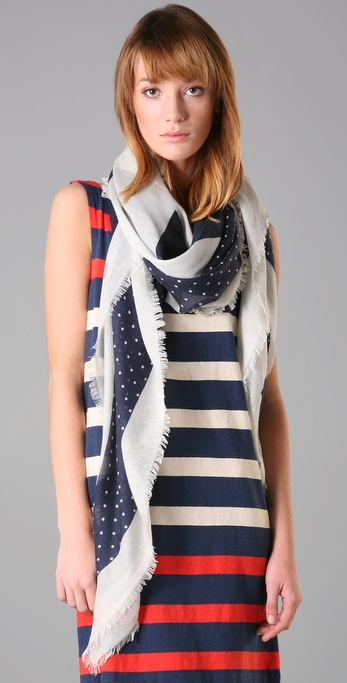 Marc by Marc Jacobs Bella Stripe & Polka Dot Scarf