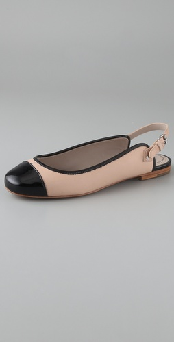 Marc by Marc Jacobs Cap Toe Sling Back Flats