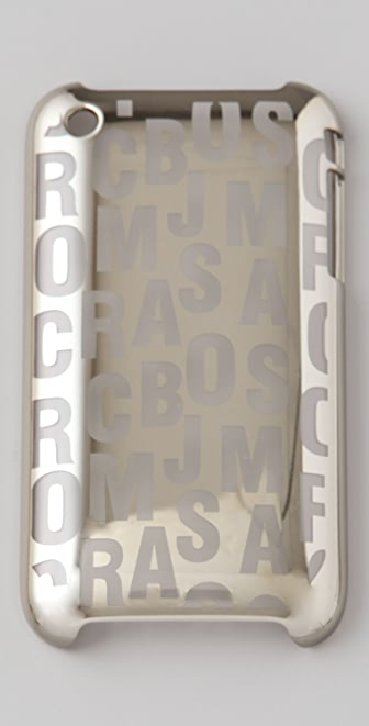 Marc by Marc Jacobs Large Jumbled Logo Metallic 3G iPhone Cover