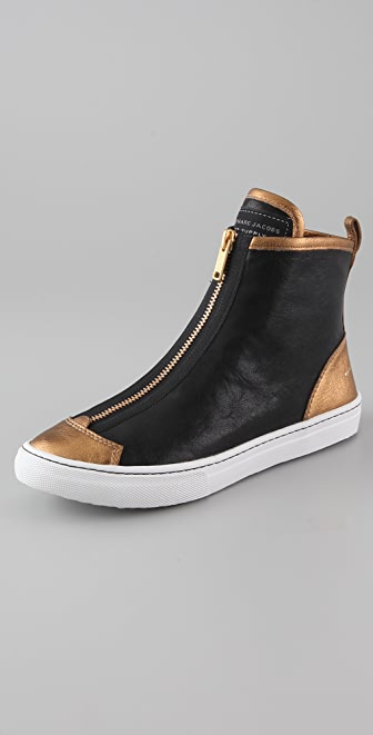 Marc by Marc Jacobs Hi Top Leather Sneakers