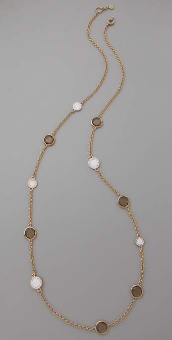 Marc by Marc Jacobs Enamel Discs Long Necklace