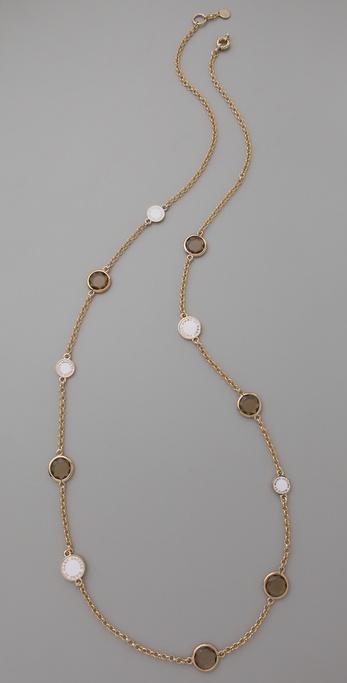 Marc by Marc Jacobs Enamel Discs Long Necklace