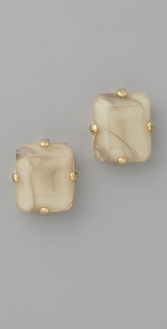 Marc by Marc Jacobs Faceted Stone Stud Earrings