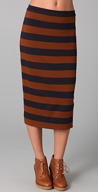 Marc by Marc Jacobs Marlo Interlock Stripe Skirt