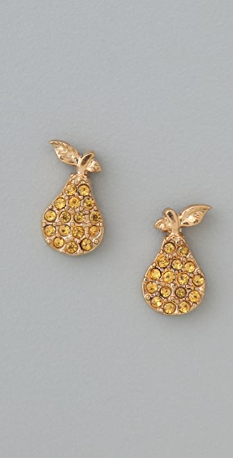 Marc by Marc Jacobs 10th Anniversary Pear Stud Earrings