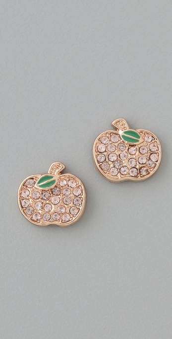 Marc by Marc Jacobs 10th Anniversary Apple Studs from shopbop.com