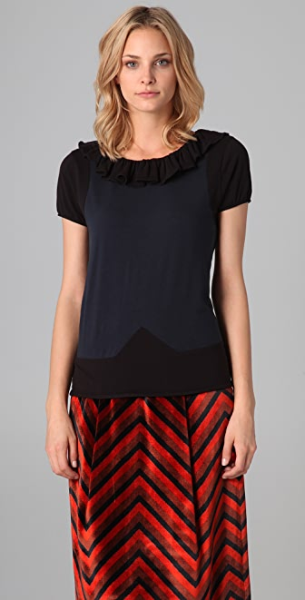 Marc by Marc Jacobs Fosse Colorblock Jersey Top