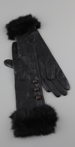 Marc by Marc Jacobs Hayworth Fur Gloves