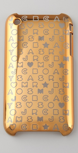 Marc by Marc Jacobs Metallic Stardust Logo 3G iPhone Cover