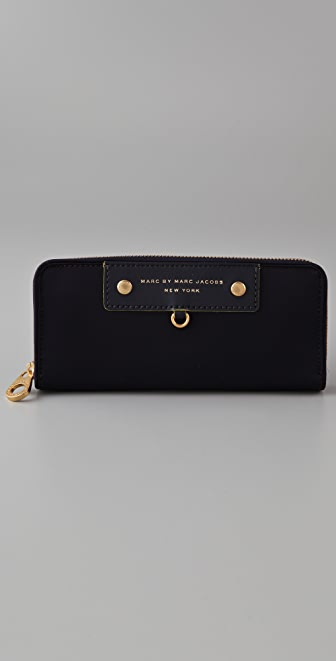 Marc by Marc Jacobs Preppy Nylon Slim Zip Wallet