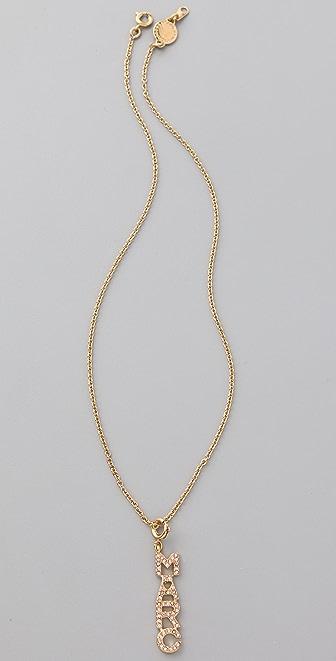 Marc by Marc Jacobs Mini Charm Pave Pendant Necklace