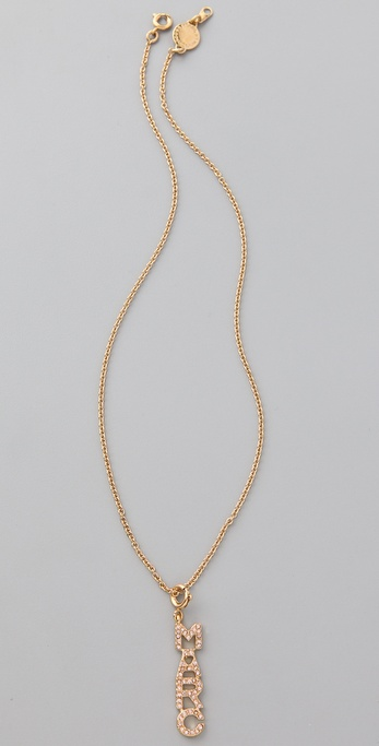 Marc by Marc Jacobs Mini Charm Pave Pendant Necklace