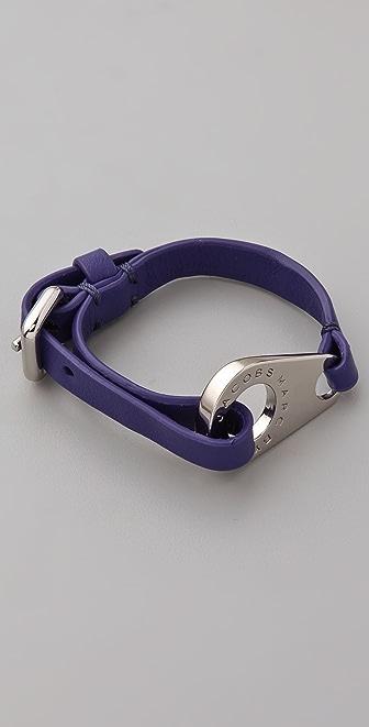 Marc by Marc Jacobs Zip Wrap Leather Bracelet