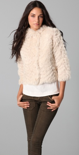 Marc by Marc Jacobs Nikki Cropped Fur Coat