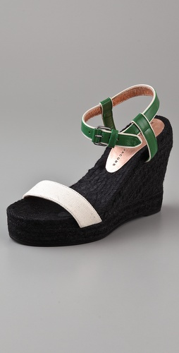 Marc by Marc Jacobs Multicolor Wedge Espadrilles