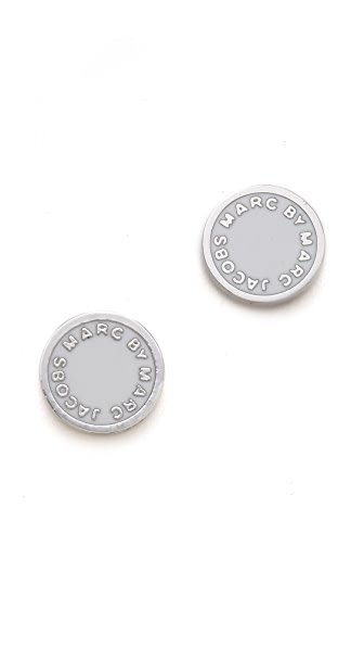 Marc by Marc Jacobs Logo Disc Stud Earrings
