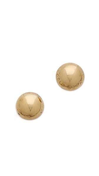 Marc by Marc Jacobs Classic Marc Domed Logo Stud Earrings