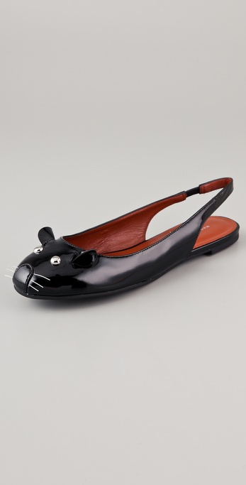 Marc by Marc Jacobs Sling Back Mouse Flats