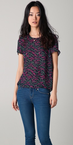 Marc by Marc Jacobs Kayla Print Blouse