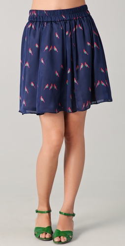 Marc by Marc Jacobs Finch Charm Print Skirt