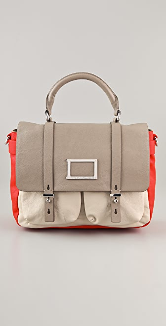 Marc by Marc Jacobs Werdie Colorblocked Top Handle Messenger
